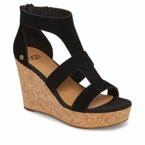 "Ugg ""Whitney"" Platform Sandal Wedge"